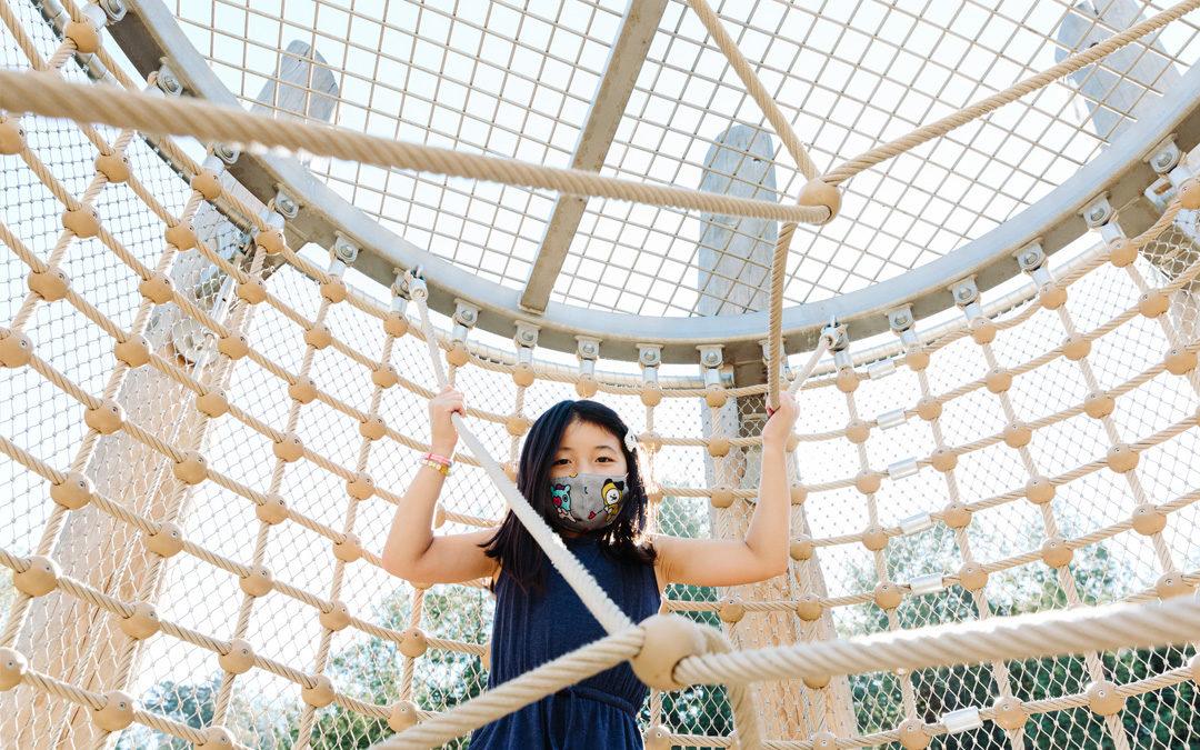 Redwood Grove park San Francisco California natural playground rope net tower