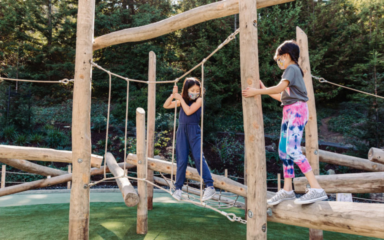 Redwood Grove San Francisco natural wood playground log climber nets ropes