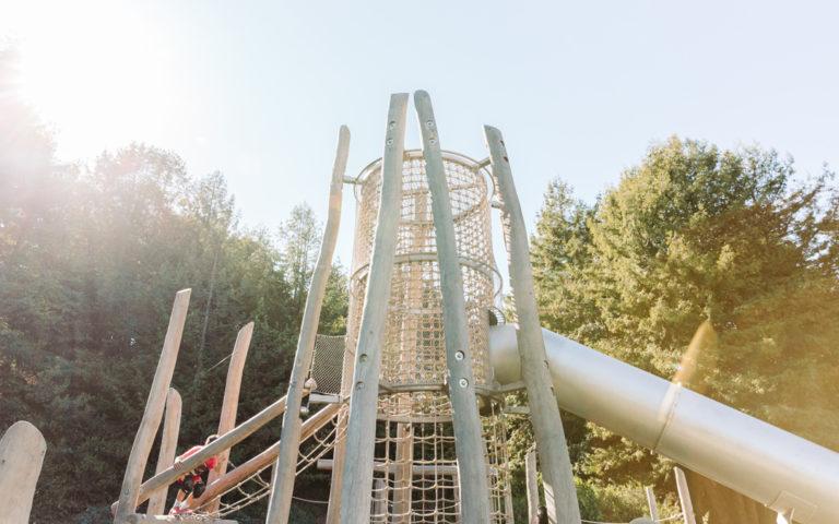 San Francisco California natural playground log tower adventure climbing robinia