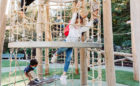 San Francisco natural wood playground log tower rope climbing adventure play