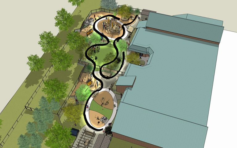 SketchUp model of child care center playground