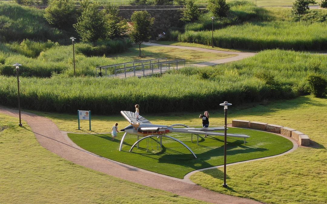 Alliance Town Center bird sculpture for play