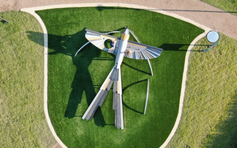 plan view of Scissortail bird playground in Texas