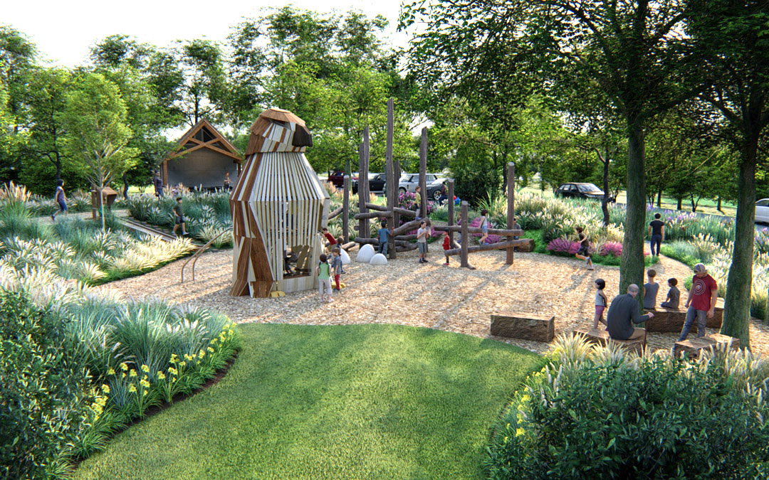 hempstead park ohio natural bespoke wood adventure playground