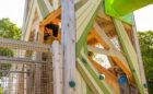 Close up of cladding on John Ball Zoo playground tower