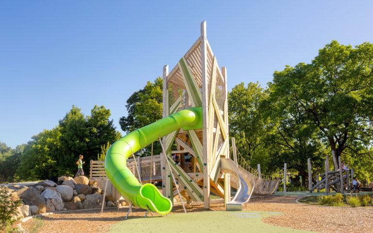 John Ball Zoo natural playground tower