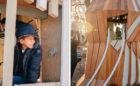 Johnston McVay park Ohio hawk sculpture banister rails climber