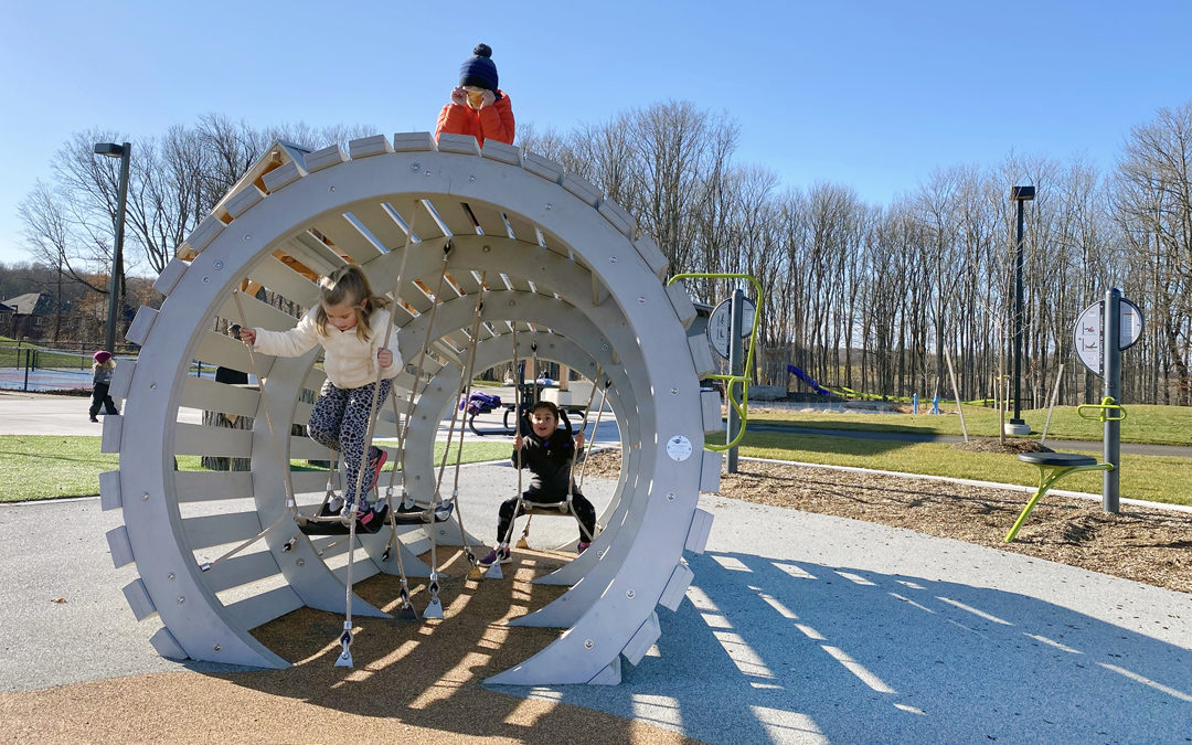 Walter Henry park Orillia custom wood playground maple syrup bucket sculpture