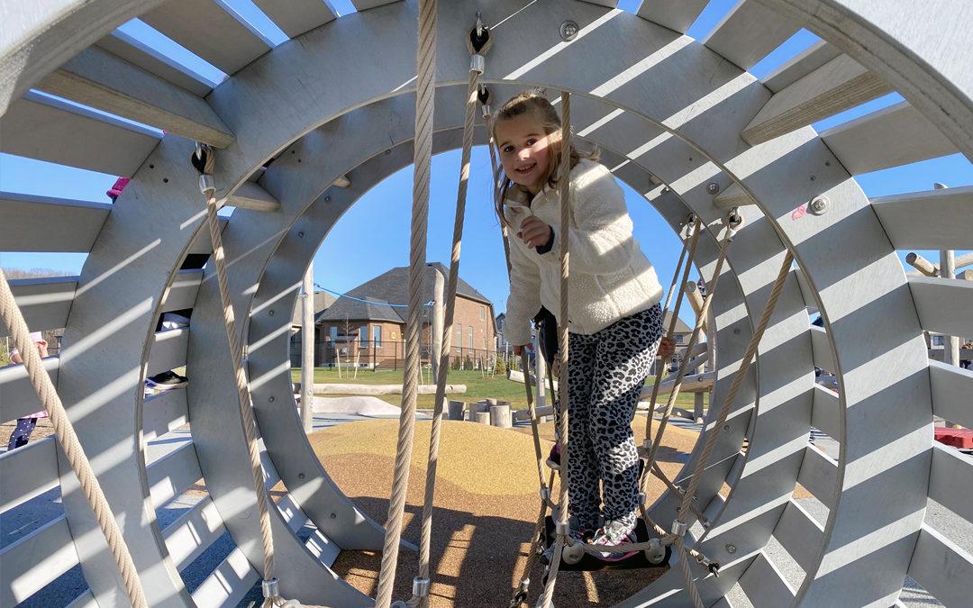 West Orillia Ontario natural playground maple syrup bucket climbing sculpture