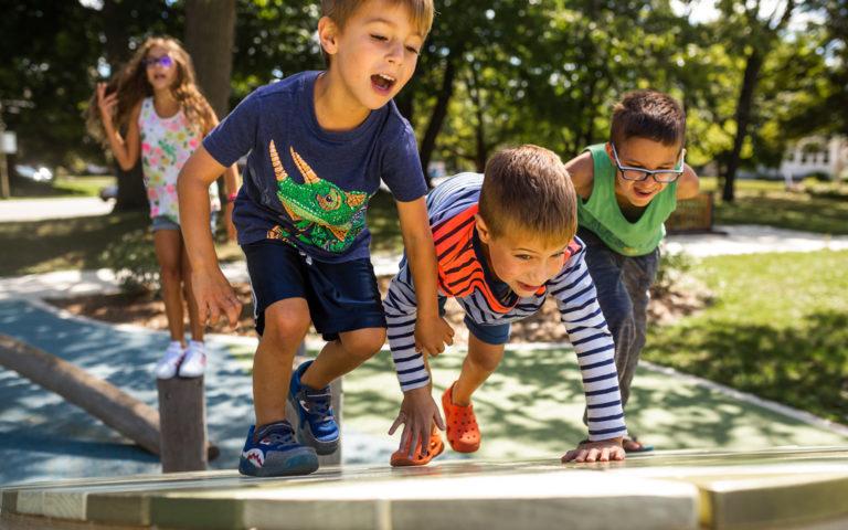 racing up playground John Ball Zoo