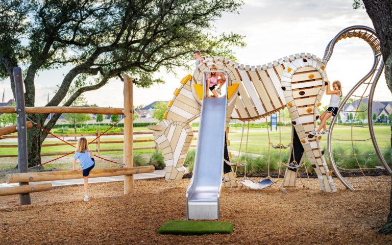 Amira playground Tomball Texas custom Arabian horse sculpture playable art