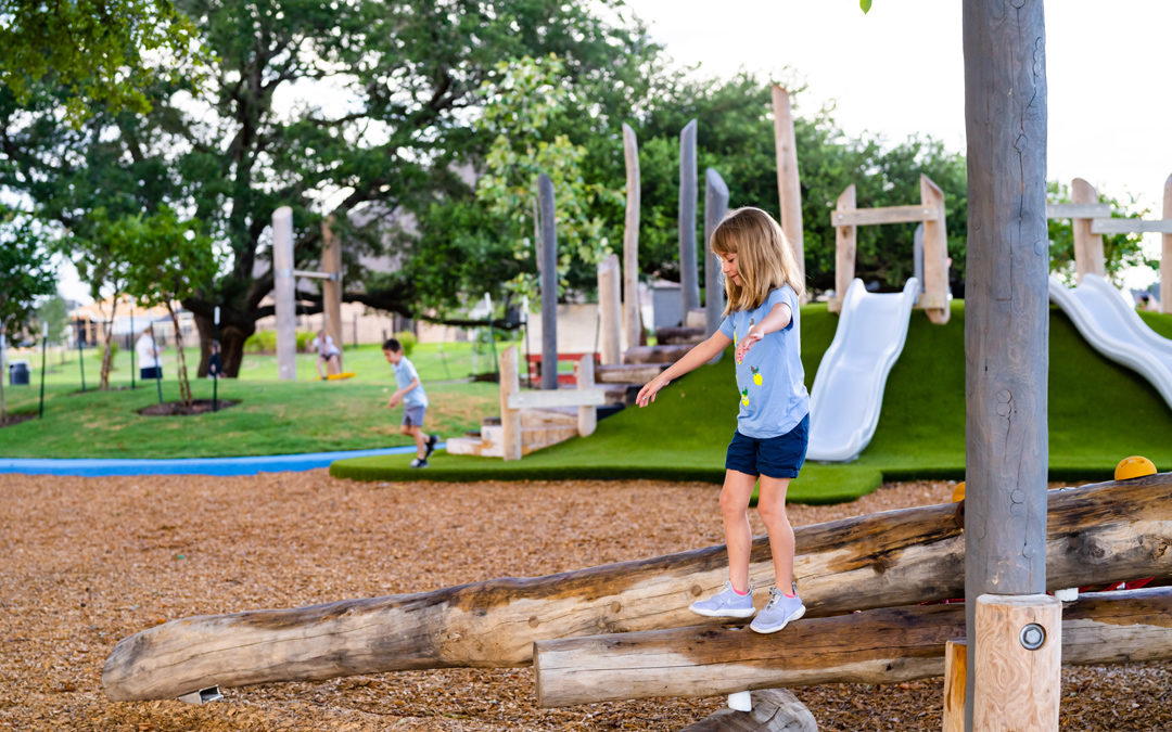 Bespoke natural wood playground robinia log climber hill slide and steppers