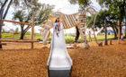 custom wood horse sculpture steel slide rope climbing high challenge robinia logs