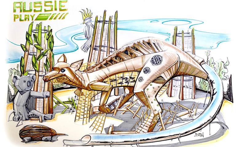 Aussie Playground sketch by Dylan Torraville