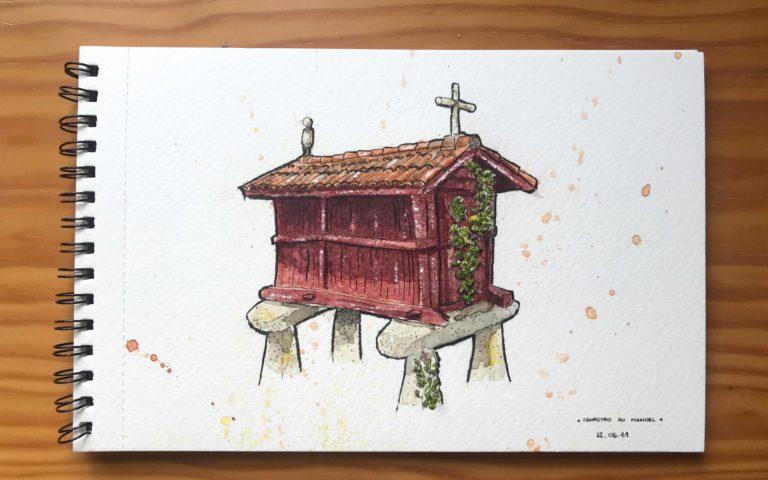 Canastro Do Manuel sketch by Ismael Velo