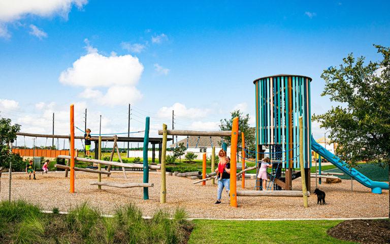 katy texas robinia log nature play ground tower playground