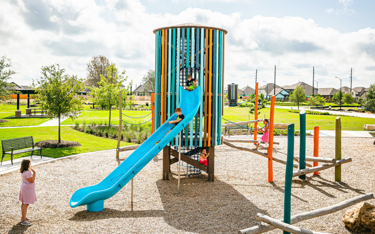 texas playground tower slide post and rope