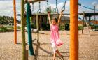 wood playground texas trapeze rings child swinging