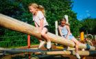 Ontario Canada wood playground log climber nature play